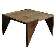 Handcrafted English Walnut Modernist End Table