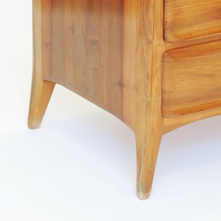 Swiss Handcrafted Franz Xaver Sproll Wooden Chest of Drawers, Switzerland, 1940s For Sale