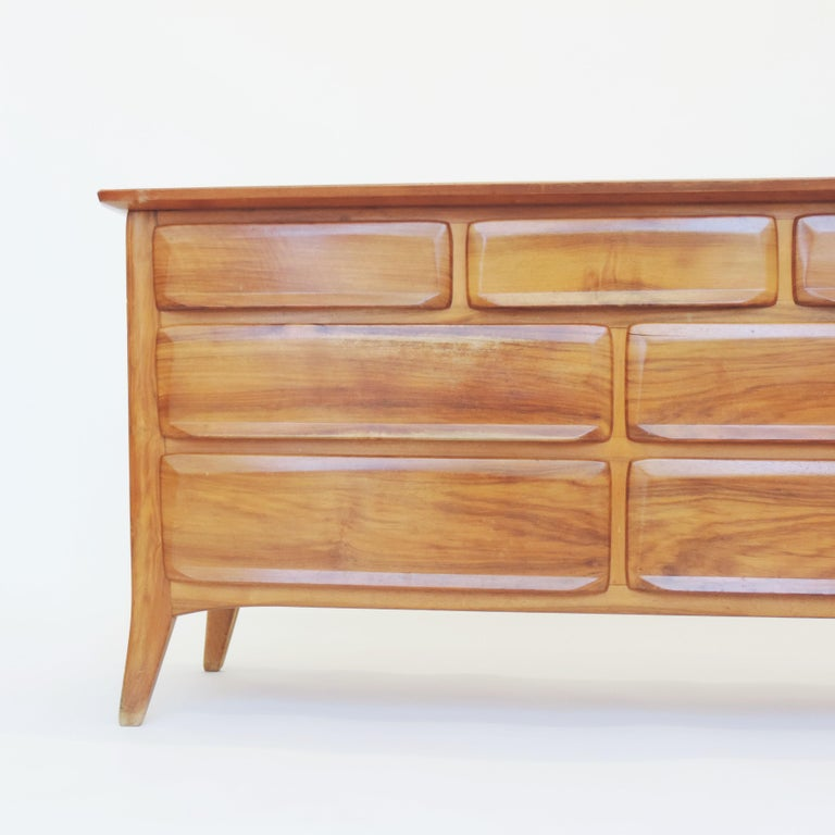 Mid-20th Century Handcrafted Franz Xaver Sproll Wooden Chest of Drawers, Switzerland, 1940s For Sale