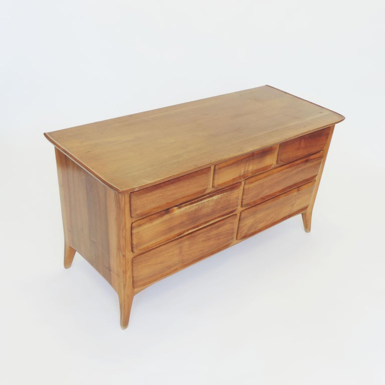 Handcrafted Franz Xaver Sproll Wooden Chest of Drawers, Switzerland, 1940s For Sale 2