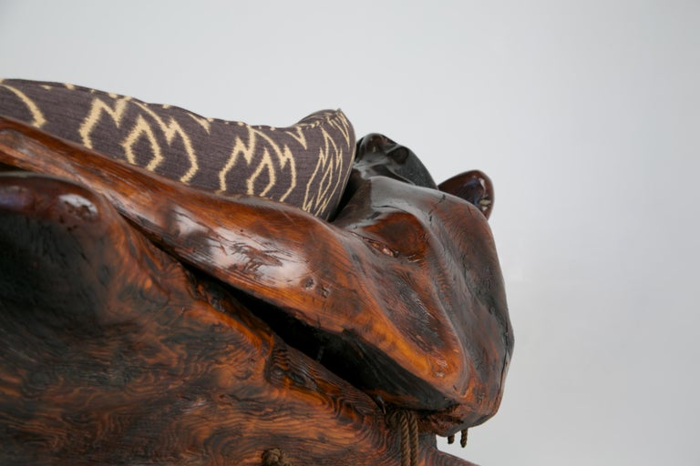 Handcrafted Freeform Slab Burl Redwood Artisan Sofa by Daryl Stokes, circa 1975 For Sale 9