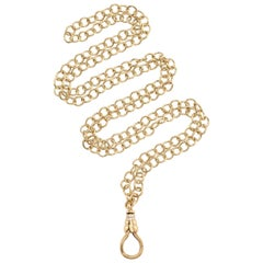 Handcrafted Gold Like Chain with Approximate 0.20 Carat Diamond Accents on Clasp