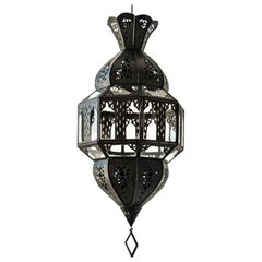 Handcrafted Moorish Glass Lantern, Octagonal Shape