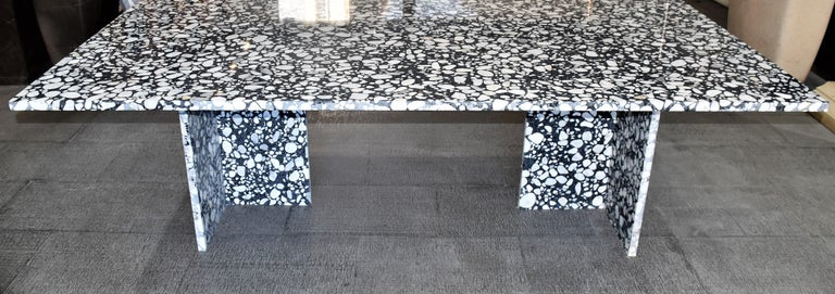 Modern Handcrafted Italian Terrazzo Renata Dining Table In Stock For Sale