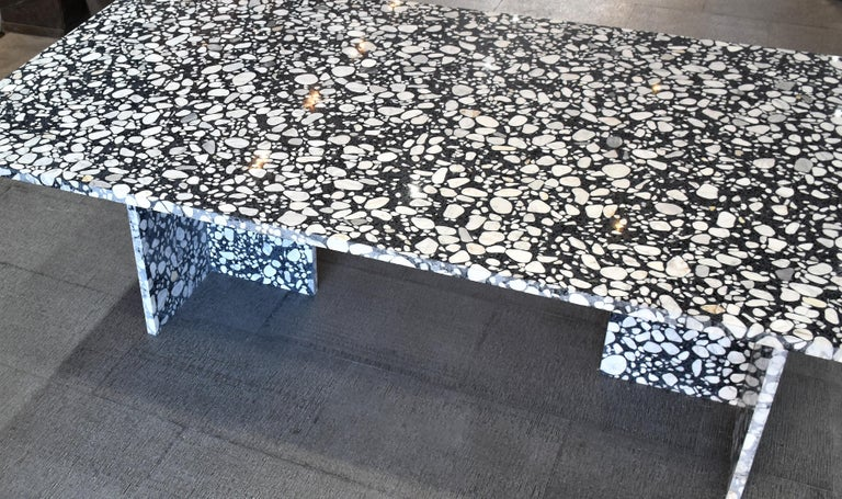 Asian Handcrafted Italian Terrazzo Renata Dining Table In Stock For Sale
