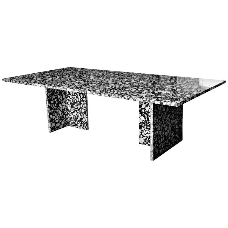Handcrafted Italian Terrazzo Renata Dining Table In Stock For Sale