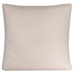 Handcrafted Ivory Bouclé Square Pillow Cushion
