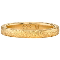 Handcrafted Faye Band in 22K Yellow Gold by Single Stone