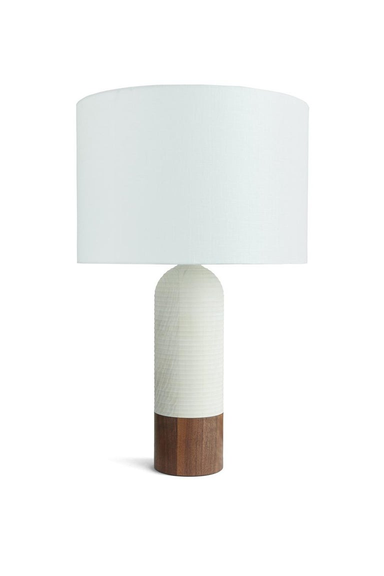 American Handcrafted Magnum Lamp of Graphite Ash and Walnut For Sale