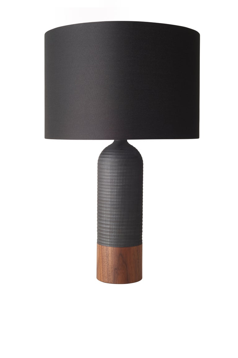 American Handcrafted Magnum Lamp of White Ash and Walnut For Sale