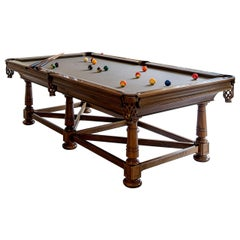 Handcrafted Mahogany Wood Blatt Billiards Raleigh Pool Table