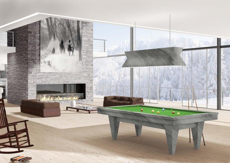 Modern Handcrafted Marble Billiards Table by Blatt Billiards