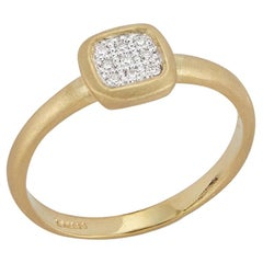 Handcrafted Matte-Finished Square-Shaped Diamond Centered Ring