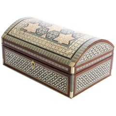 Handcrafted Middle Eastern Sadeli Jewelry Box