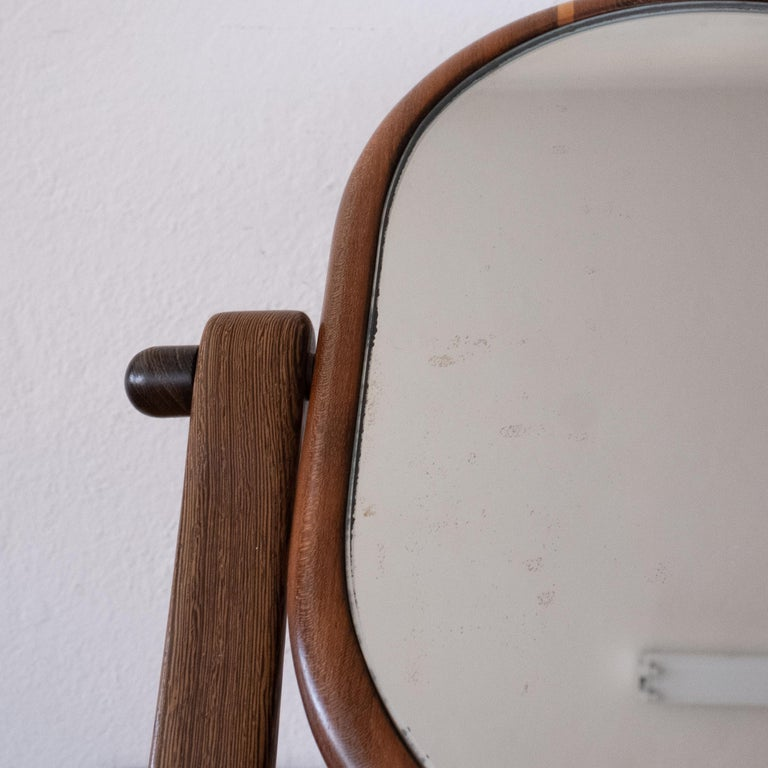 Handcrafted Mixed Wood Table Top Mirror, 1960s For Sale 6
