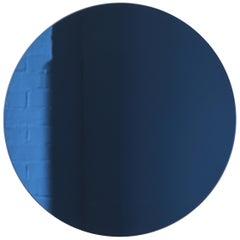 Orbis™ Blue Tinted Round Contemporary Frameless Mirror - Regular