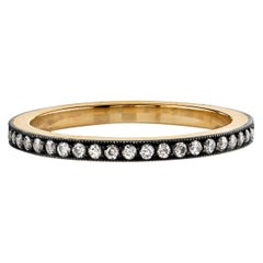 Handcrafted Molly Old European Cut Diamond Eternity Band by Single Stone