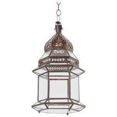Handcrafted Moroccan Hanging Glass Lantern