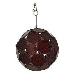 Handcrafted Moroccan Moorish Lavender Glass Lantern or Orb Pendant