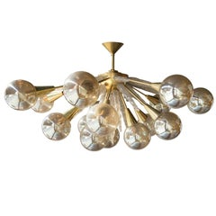 Handcrafted Murano Glass Half Sputnik Chandelier
