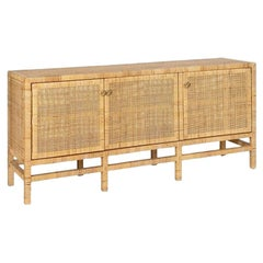 Handcrafted Natural Woven Rattan Sideboard