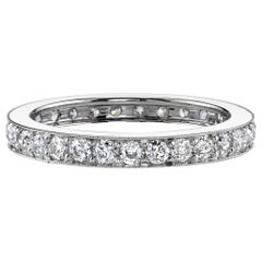 1.00 Carat Old European Cut Diamonds in a Handcrafted Platinum Eternity Band