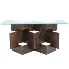 Handcrafted Origami Console Table