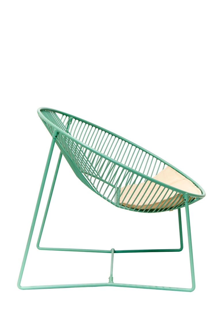 Handcrafted Outdoor Cali Wire Lounge Chair, Powder-Coated Steel For Sale 4