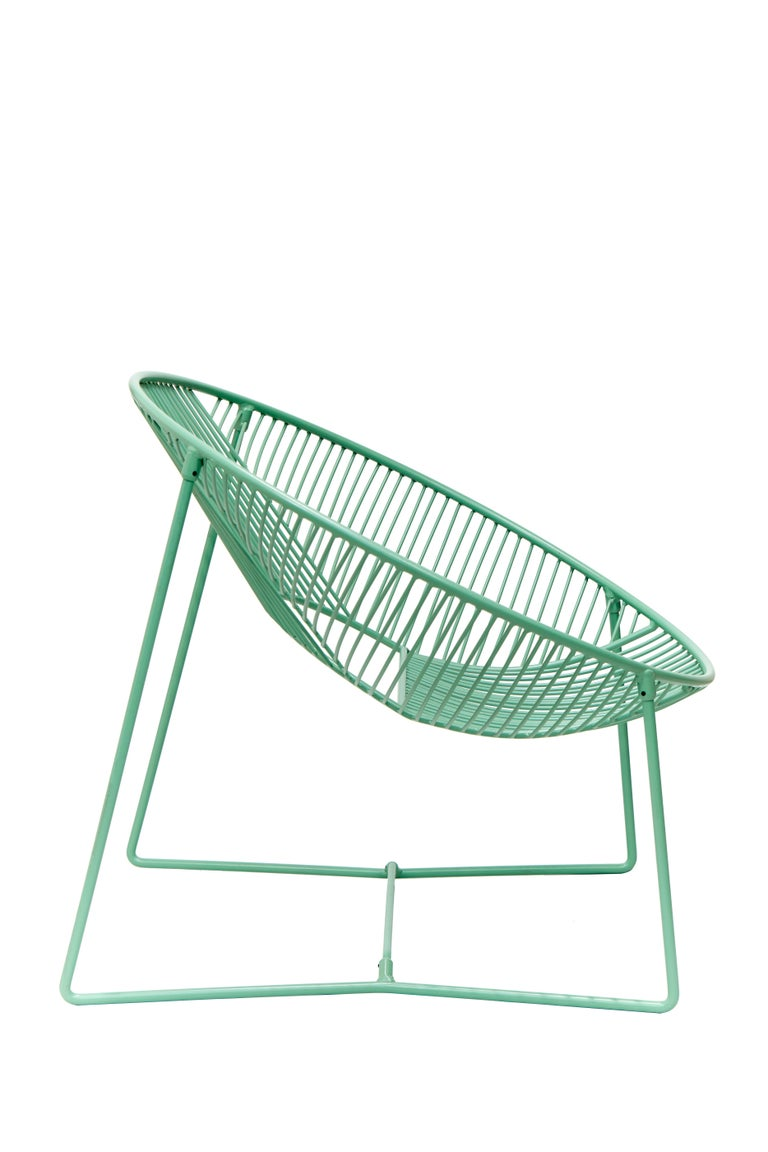 Handcrafted Outdoor Cali Wire Lounge Chair, Powder-Coated Steel For Sale 5