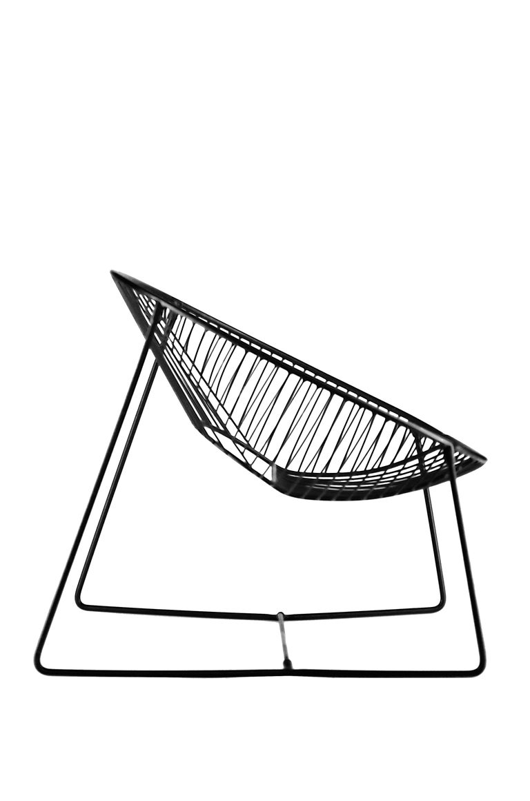 Handcrafted Outdoor Cali Wire Lounge Chair, Powder-Coated Steel For Sale 9