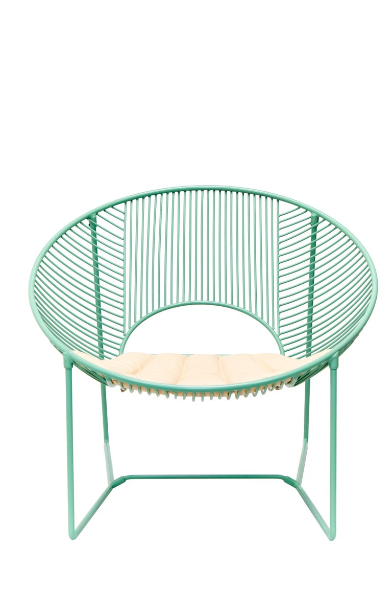 Handcrafted Outdoor Cali Wire Lounge Chair, Powder-Coated Steel For Sale 2