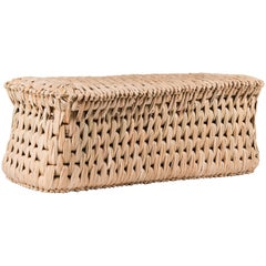 Handcrafted Palm Woven Tule Bench made in Mexico by Txt-ure for Luteca
