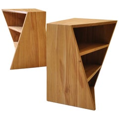 Handcrafted Postmodern End Tables