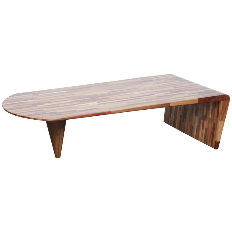 Handcrafted Reclaimed Wood Coffee Table By Tunico T Brazil 2000s