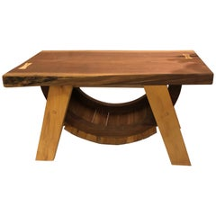Handcrafted Rustic Amish Live Edge End Table or Bench