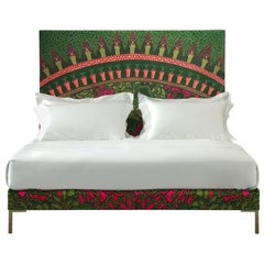 Handcrafted Savoir Lilies and Nº2 Bed Set, Queen Size, by Zandra Rhodes