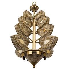 Handmade Sculptural Leaf Chandelier