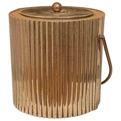 Handcrafted Secessionist Style Silver-Plated Ice Bucket from Cassetti, 1960s