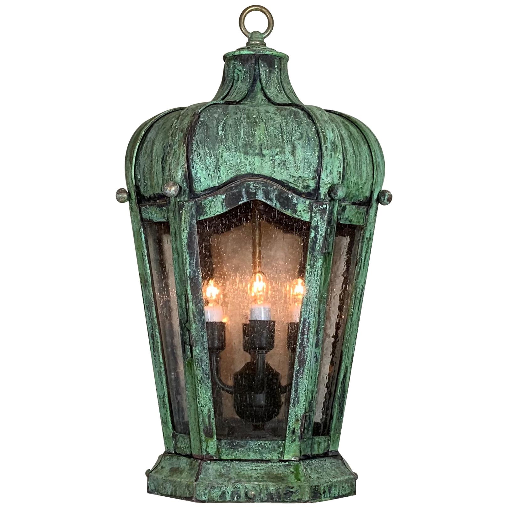 Handcrafted Solid Brass Hanging Lantern