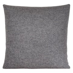 Handcrafted Square Grey Pillow Cushion