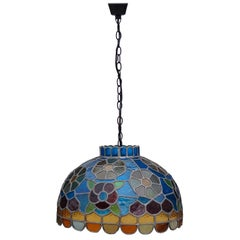 Handcrafted Stained Glass Pendant Lamp, Late 20th Century, Germany