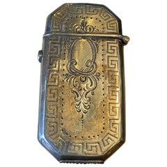 Handcrafted Sterling Silver Match Holder Object Decorative Antique Gift Dealer