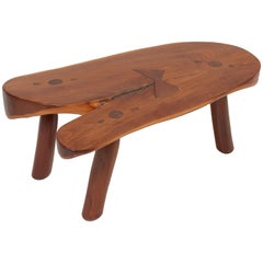 Handcrafted Studio Coffee Table by Don Shoemaker, Mexico, 1960s