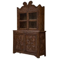 Handcrafted Twig Parquetry Cabinet