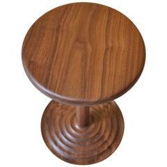 Handcrafted Walnut Modernist Side Table