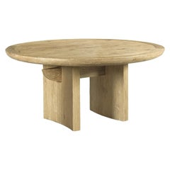 Handcrafted Weathered Oak Dining Table