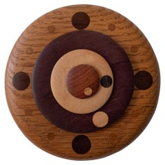 Handcrafted Wood Clock, 1970s