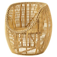 Handcrafted Woven Rattan Wicker Armchair