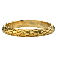 Handcrafted Eden Band in 18K Yellow Gold by Single Stone