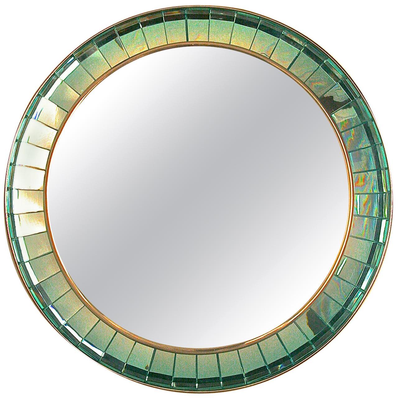 Handcut Crystal Glass Mirror by Ghiro Studios, Italy